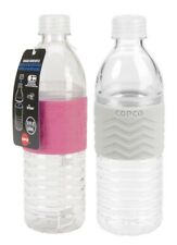 Copco Hydra Water Bottle BPA Free Plastic, Reusable 16.9 Oz Pack Of 2, Pink Gray