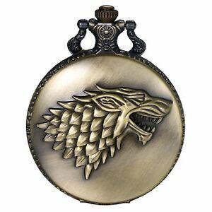 Men's Arabic Numbers Dial Analog Quartz Pocket Watch Antique Necklace Pendant