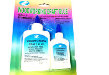 P/K 2 PCS (100ML & 70 ML)WOOD WORKING CRAFT GLUE -FOR WOOD,CRAFT & HOBBIES-NEW