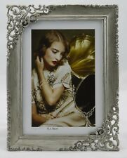 "Metal Photo Frame 5""x 7"" 13x18ccm Brushed Silver"