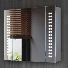 Modern 60 X LED Mirror Illuminated Bathroom Sensor Demister Pad Shaver Socket UK