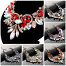 Chunky Rhinestone Necklace Earrings Set Charm Crystal Women Wedding Jewelry