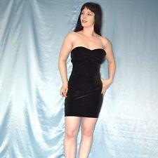 trägerloses SAMTKLEID* S 36 Gothic ABENDKLEID* Kleid* Partykleid* Cocktailkleid