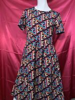 Women's Multi Colored LuLaRoe Medium Polyester Dress