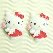 "US SELLER - 10 pcs x 1.25"" Resin Flatback Angels w/Rose for Hello Kitty SB634"