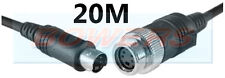 BRIGADE BE-L120 20M ELITE OR EXTREME REVERSE MONITOR TO CAMERA CABLE 4 PIN MINI