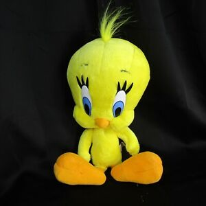 "Six Flags Tweety Bird Plush Doll Toy 14"" Inches Looney Tunes Warner Brothers"