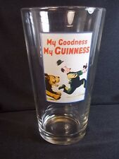 Pint Beer Glass My Goodness My Guinness lion chasing man decal
