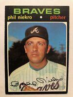 1971 Topps Baseball Card Phil Niekro Atlanta Braves   Card #30