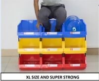 Linbin XL Storage  Box Bin Open Fronted Plastic Tote Container Stackable Picking