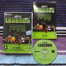 TAITO LEGENDS PC CD-ROM V.G.C. FAST POST COMPLETE ( 29 classic arcade games )