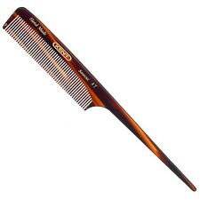 Kent 8T Handmade Saw Tail Comb - All Fine Teeth - 190mm Length - A8T - Fine Hair