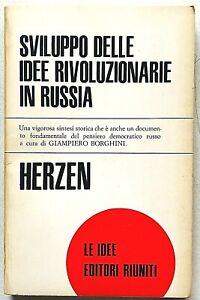 Herzen Sviluppo delle idee rivoluzionarie in Russia Editori Riuniti 1971