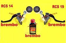 POMPA BREMBO RADIALE RCS 19 FRENO ANT + RCS 14 FRENO POST COMPLETE di ACCESSORI