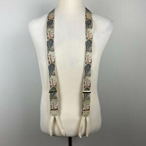 Trafalgar Safari Theme Elephant Giraffe Limited Edition Silk Suspenders Braces