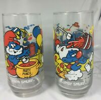 "Vintage Collectible 1983 ""Papa Smurf Glasses Clumsy Peyo Wallace Berrie & Co. FS"