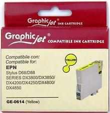 Cartuccia Compatibile GRAPHIC JET per Epson T0614 colore GIALLO inchiostro 13ml