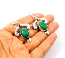 Handmade Earring Jewelry Jc9396 Malachite .925 Silver Plated