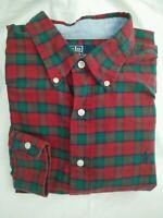 Mens Genuine RALPH LAUREN POLO Cotton Check Plaid Tartan Flannel Shirt | Size L