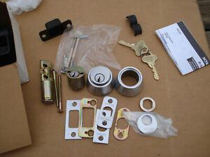 NEW NOS Schlage Double Deadbolt Lock BC162P Satin Chrome