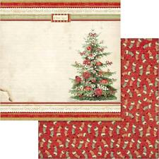 Stamperia 12x12 double-sided paper - VINTAGE CHRISTMAS TREE