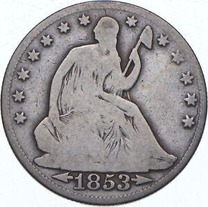1853-O Seated Liberty Half Dollar - TC *585
