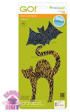 55365- New Accuquilt GO! & Baby Cat & Bat Applique Spooky Halloween Quilt Die