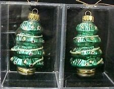 Treasure Glass 2 Hand Made Christmas Holiday Tree Ornaments New