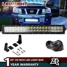 "For 2004-2018 Nissan Titan Lower Grille Bumper 20/22"" LED Light Bar Combo Kit"