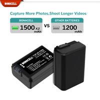 2pcs NP-FW50 Battery for Sony A6300 A6000 A5000 A3000 A7R Alpha 7 Alpha 7R nex-3