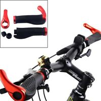 Mountain Bicycle Bike Cycling Lock-On Handlebar Hand Bar End Grips Set-Red D5P3