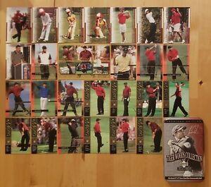 2001 Upper Deck Tiger Woods 25 ROOKIE Card Tin Set Factory Sealed + Jumbo Card!