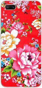 Huawei Honor 10 Coque Souple et Résistante avec motif (Fleur / Rouge)