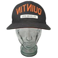 Quintin Los Angeles Headwear Baseball Cap Hat Gray Orange OSFM Snap Back