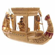 GOLDEN egiziano canopy barca casa Statua Vintage Ornamento Novità Figurina Arte