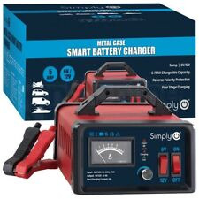 Simply 6V / 12V 5Amp Smart Battery Trickle Automatic Charger Caravan Motorcycle