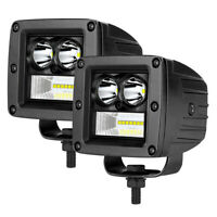 "2x 3"" 90W LED Work Light Cube Bar Spot Flood Pods Truck Driving Fog Off road ATV"