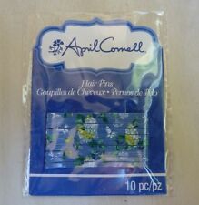 April Cornell Hair bobby Pins 10 pieces per pk yellow flowers butterflies blue
