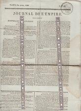 Napoléon.Journal de l'Empire 30 avril 1808.Incendie Manicamp.Esclaves Marseille.
