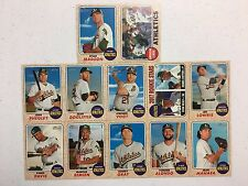 2017 Topps Heritage Oakland Athletics Team Base Set 12