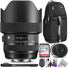 Sigma 14-24mm f/2.8 DG HSM Art Lens for CANON EF w/ USB Dock & Advanced Bundle