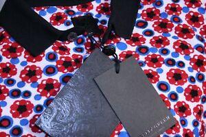 Pretty Green Floral Polo Shirt - XS/S - Red/Blue/Black - BNWT - Rare Casuals Top