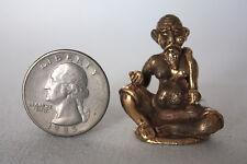 Miniature Figurine Brass Ta Jujok Metalwork Art #62