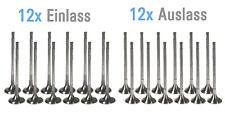 12x Einlassventile 12x Auslassventile Ventile BMW 3,0 d N57 N57D30B NEU