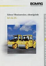 Prospekt Bomag schwere Vibrationswalzen schemelgelenkt 1/01 2001 Broschüre