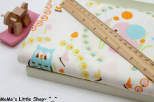 Nursery/Children/Babies Quality Pure Cotton Fabric (Owls Tigers Elephants) — ½ M