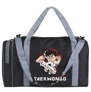 Sporttasche für Kinder Taekwondo schwarz/grau 50 cm Tae Kwon Do Kids klein
