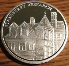 Stansberry Research NWTM 1 Troy Oz 999 Silver Round - Baltimore, Maryland MD #1