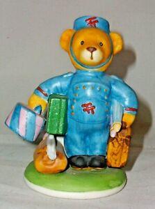 "A FRANKLIN MINT FINE PORCELAIN TEDDY BEAR 🐻 FIGURINE ""MAX"""