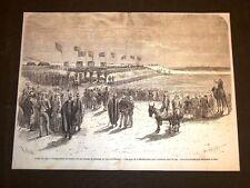 Istmo di Suez 1869 Inaugurazione bacini laghi Amers Acque Mediterraneo Egitto
